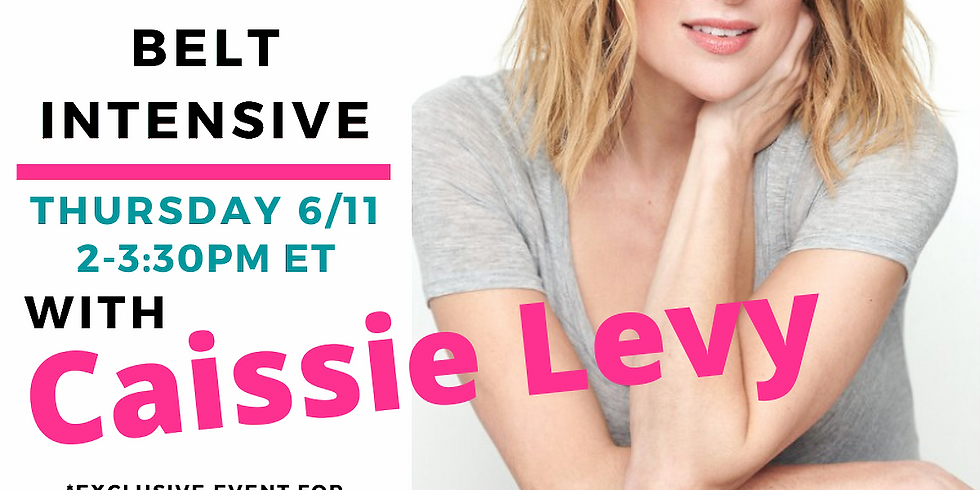 Invitation-Only: Caissie Levy Healthy Belt Intensive