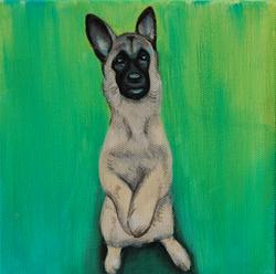 german shepherd painting