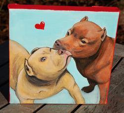 two pitbulls kissing painting.png