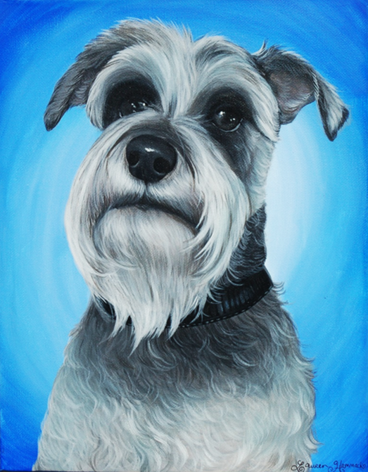 Ruger - Shnauzer custom pet painting
