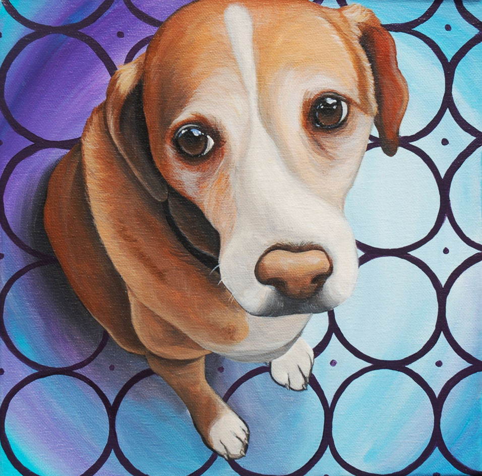 Molly Beagle Custom Pet Painting