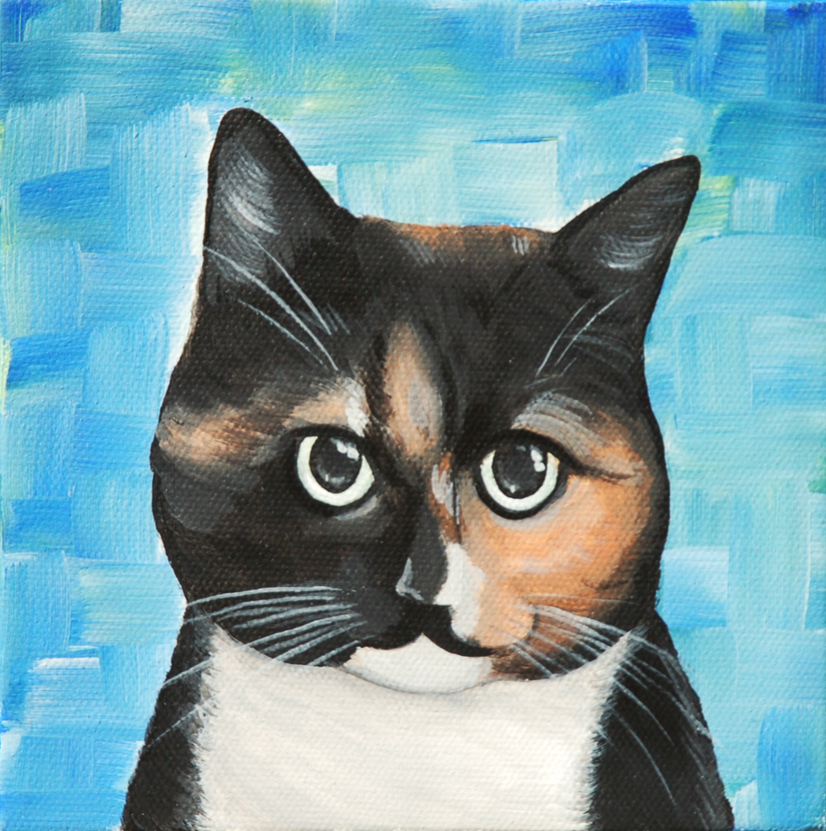 colorful kitty painting