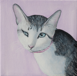 cat with one eye portrait painting chewy.png