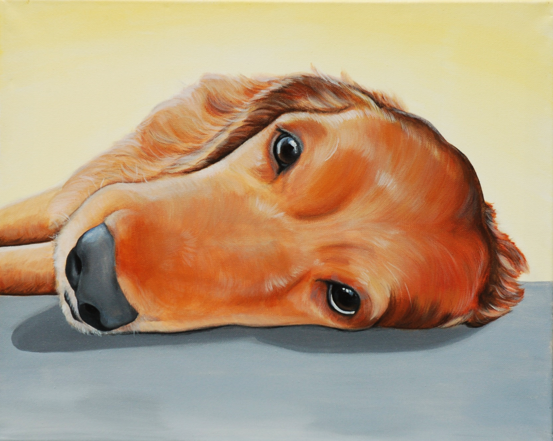Noah Golden Retriever Memorial paint