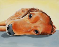 Noah Golden Retriever Memorial paint