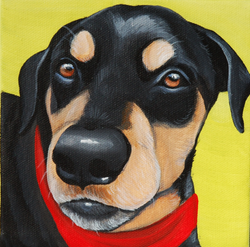 cute dog in bandana painting.png