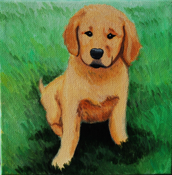 golden retreiver puppy painting in grass.png