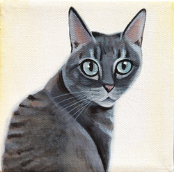 cat in the sunlight painting
