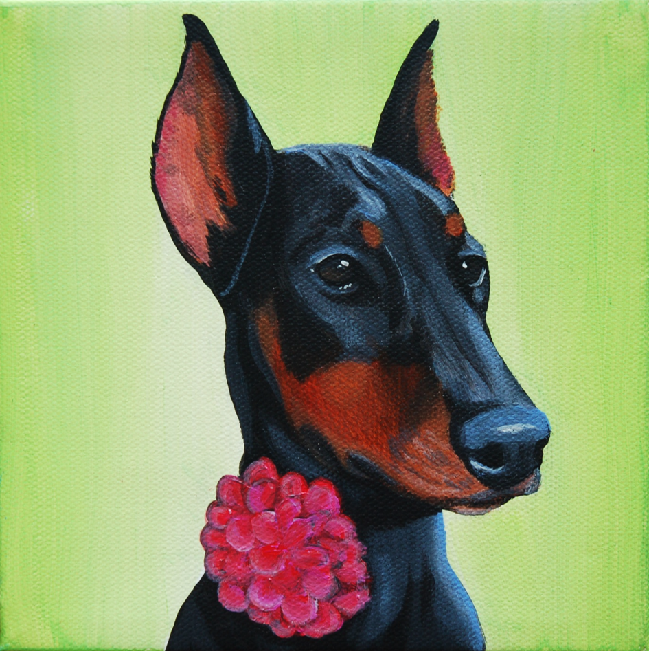 doberman pinscher painting on 6x6 canvas].png