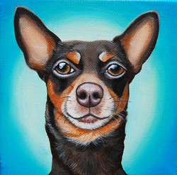 Frank minpin painting on canvas