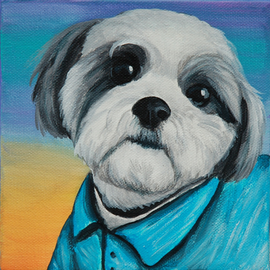 shih tzu painting portrait wearing shirt painting.png