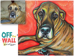 custom pet painting, great dane painting, great dane, great dane portrait, pet portrait, beautiful dog painting, paint my pet, animal art, cool gift ideas, best gift for animal lover, affordable pet painting, lauren hammack, off the wall paintings