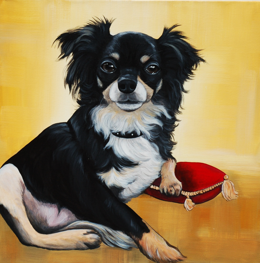 Sadie custom pet portrait painting