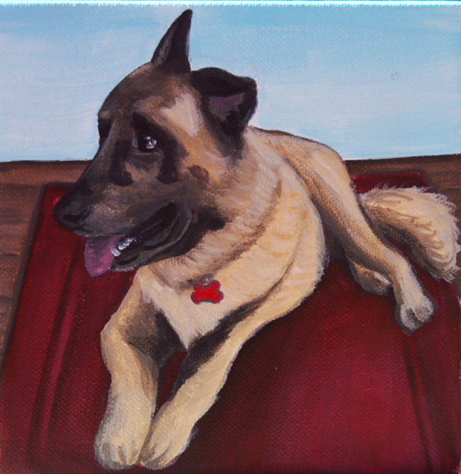 german shepherd on rug painting.png