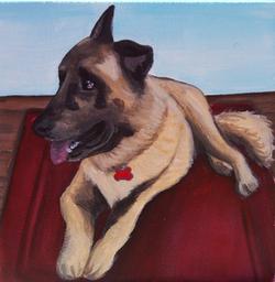 german shepherd on rug painting.png