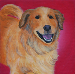 golden retriever painying red.png