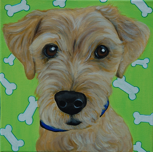 custom pet portraits, yorkie painting, custom pet painting, cute yorkie, yorkshire terrier portrait painting, cool gift ideas, bold bright painting of yorkie, pet portraits from photo