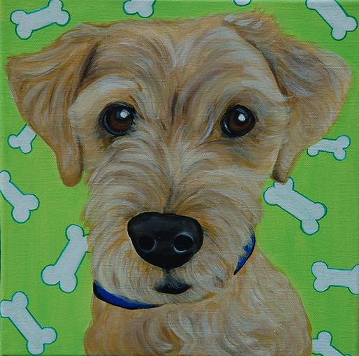 custom pet painting of yorkie, yorkshire terrier painting, portrait of yorkie, christmas gift ideas