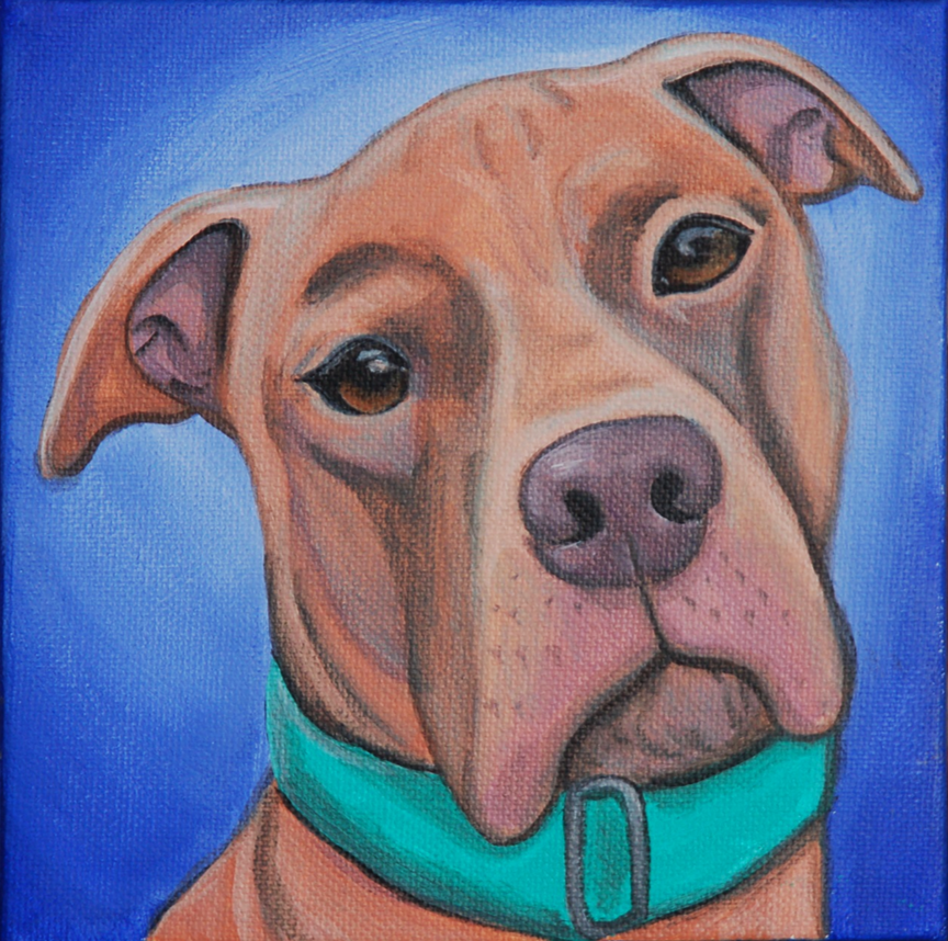 pitbull portrait painting bright happy.png