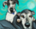 custom pet portraits, great dane painting, custom pet painting, brindle great dane, cool gift ideas, bold painting of great dane, pet portraits
