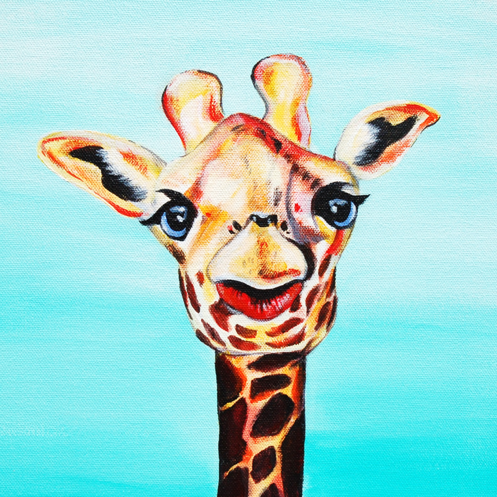 awesome giraffe painting