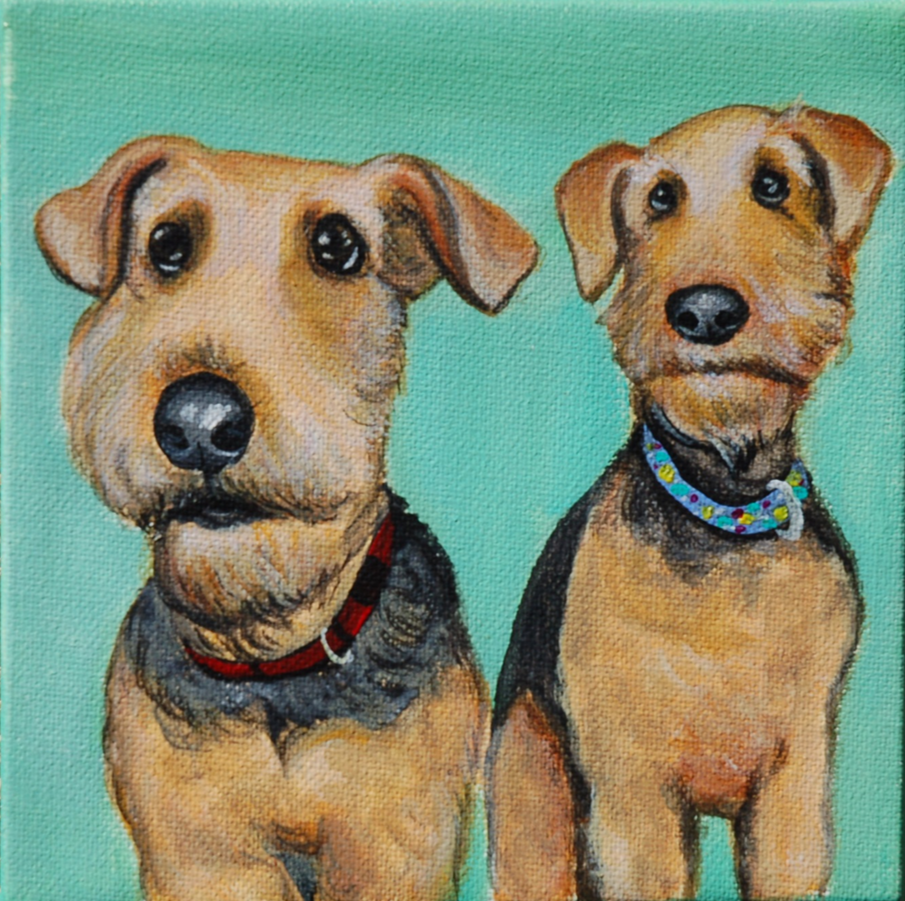 two adorable airedale terriers painting.png