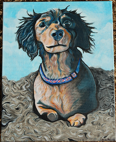 custom pet portraits, beautiful dog painting custom painting, custom pet painting, custom pet portrait, off the wall paintings, custom dog painting colorful, bright fun pet painting, bold colors painting, awesome gift ideas, cool dog painting