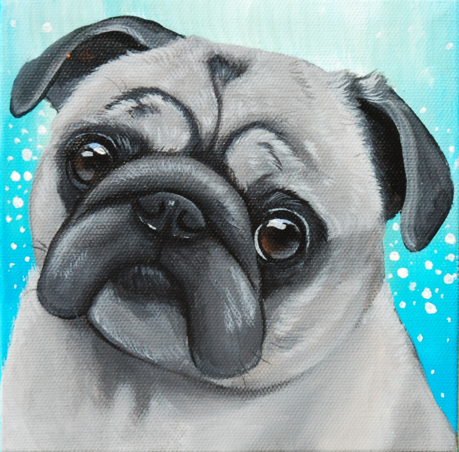 Custom pet painting of a grey pug.png