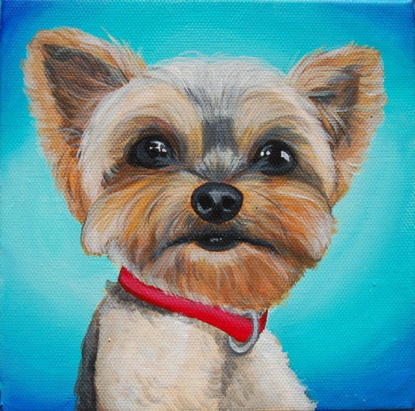awesome yorkie painting portrait