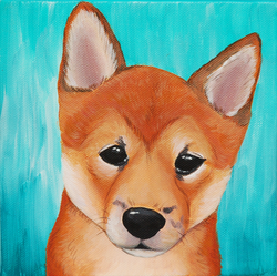 Shiba Inu puppy painting on canvas.png