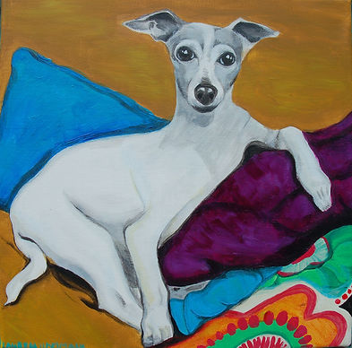 custom pet portraits, italian greyhound painting, custom pet painting, beautiful italian greyhound, cool gift ideas, italian greyhound art, pet portraits