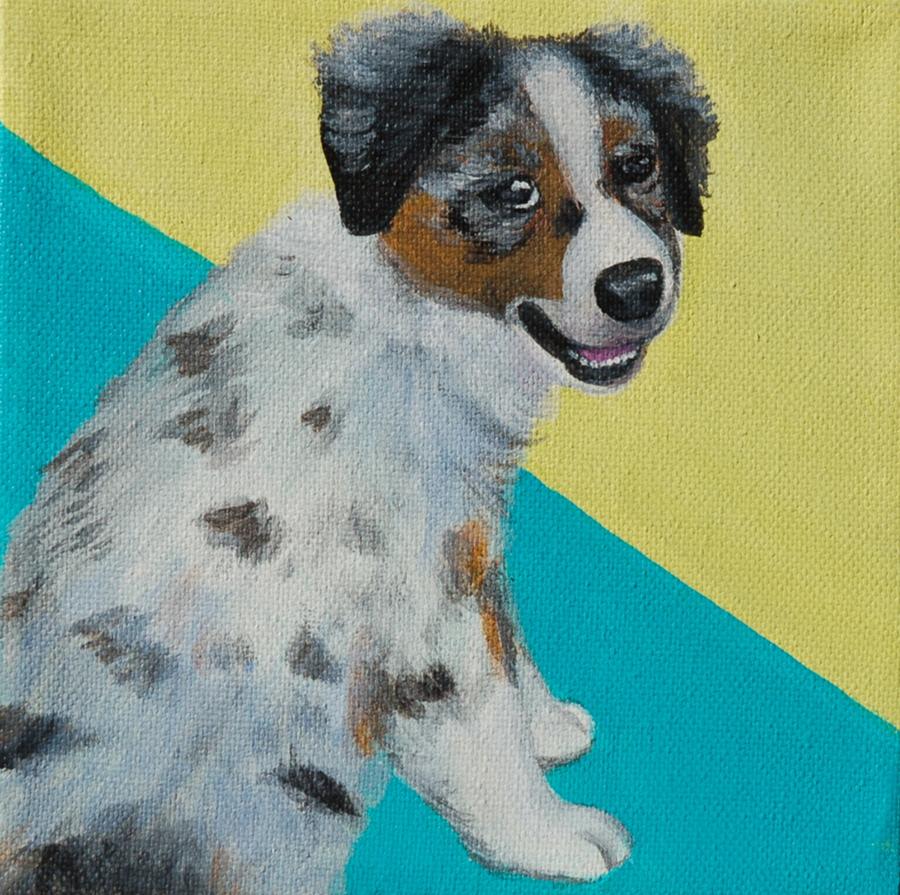 austrailian shepherd puppy painting portrait.png