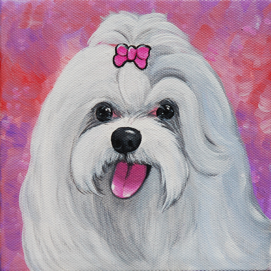 pretty pink white fluffy dog painting.png