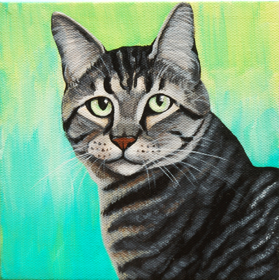 Beautiful kitty cat portrait painting.png