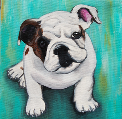 english bulldog puppy painting on canvas too cute.png