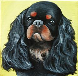 cute black spaniel painting.png