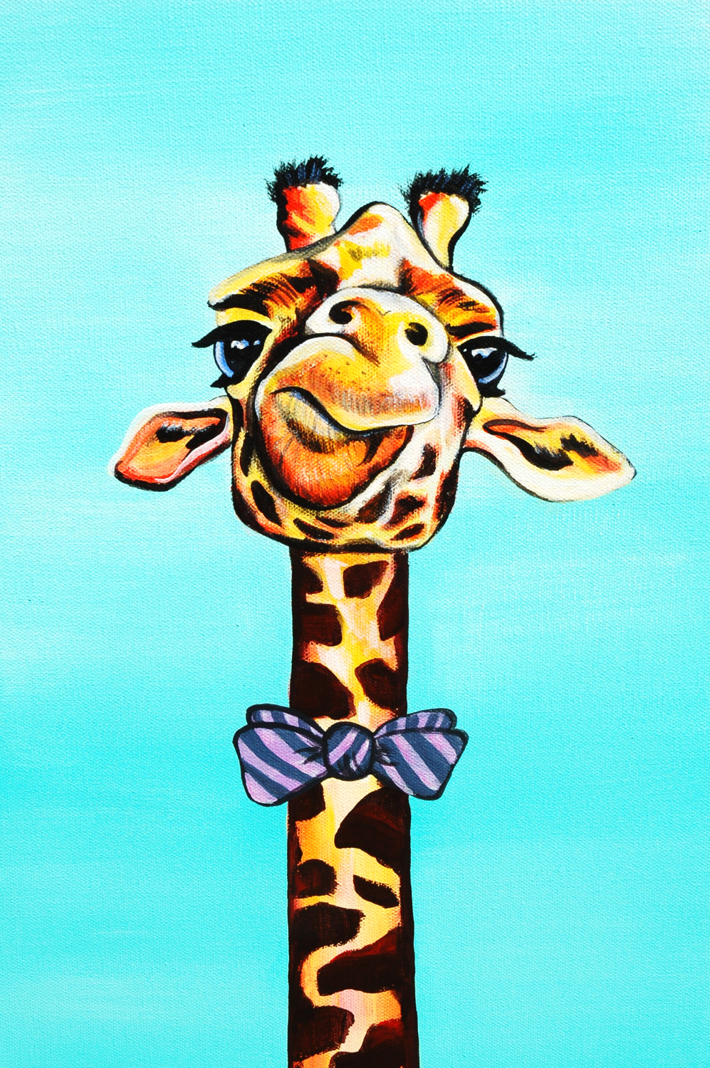 Gerald the Giraffe painting