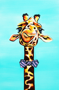 Gerald the Giraffe painting
