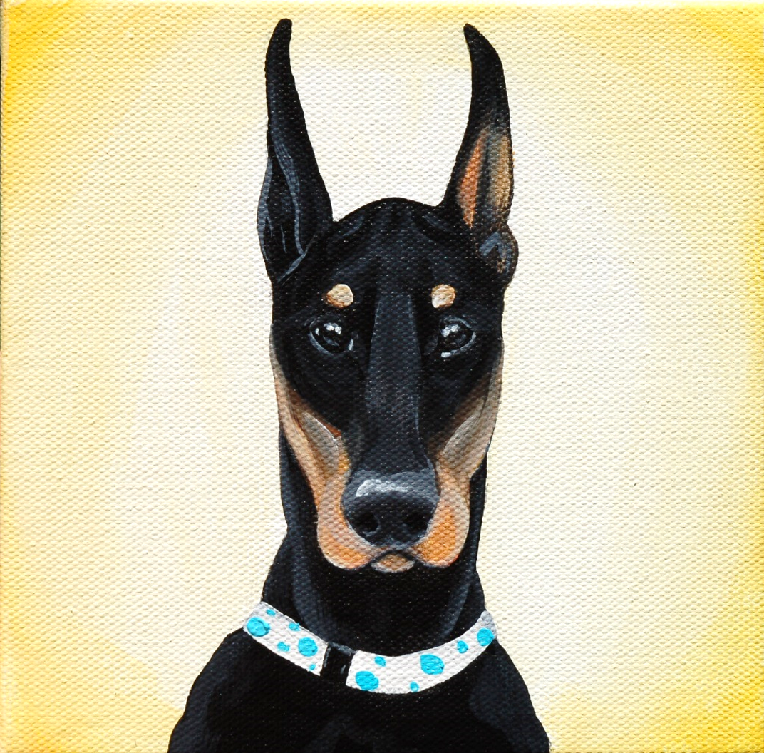 doberman pinscher painting on canvas.png