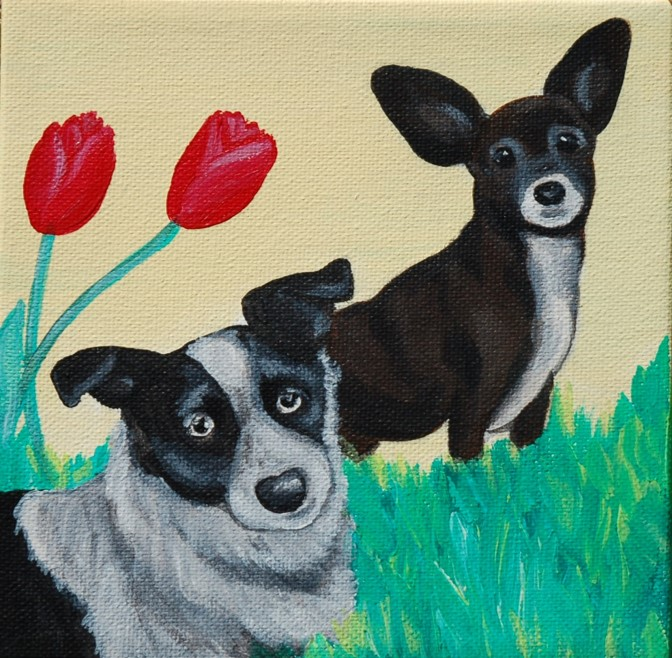 two dogs in flowers tulips chewy.jpg