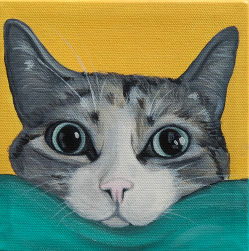 awesome cat painting