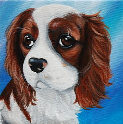 King Charles Cavalier painting on canvas.png