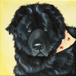 custom pet painting of newfoundland dog.png