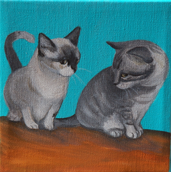 cute kittens painting
