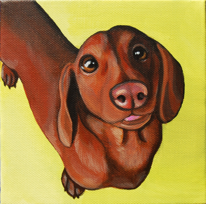 dachshund tongue out portrait painting.png