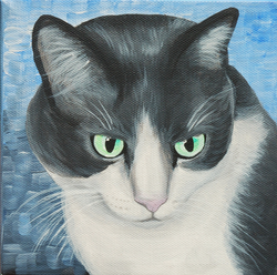 sweet kitty painting