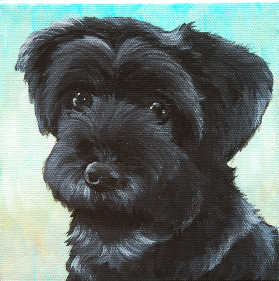 Little black maltese custom painting on canvas.png