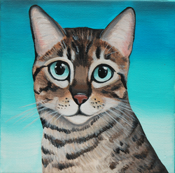 begal cat custom painting on canvas