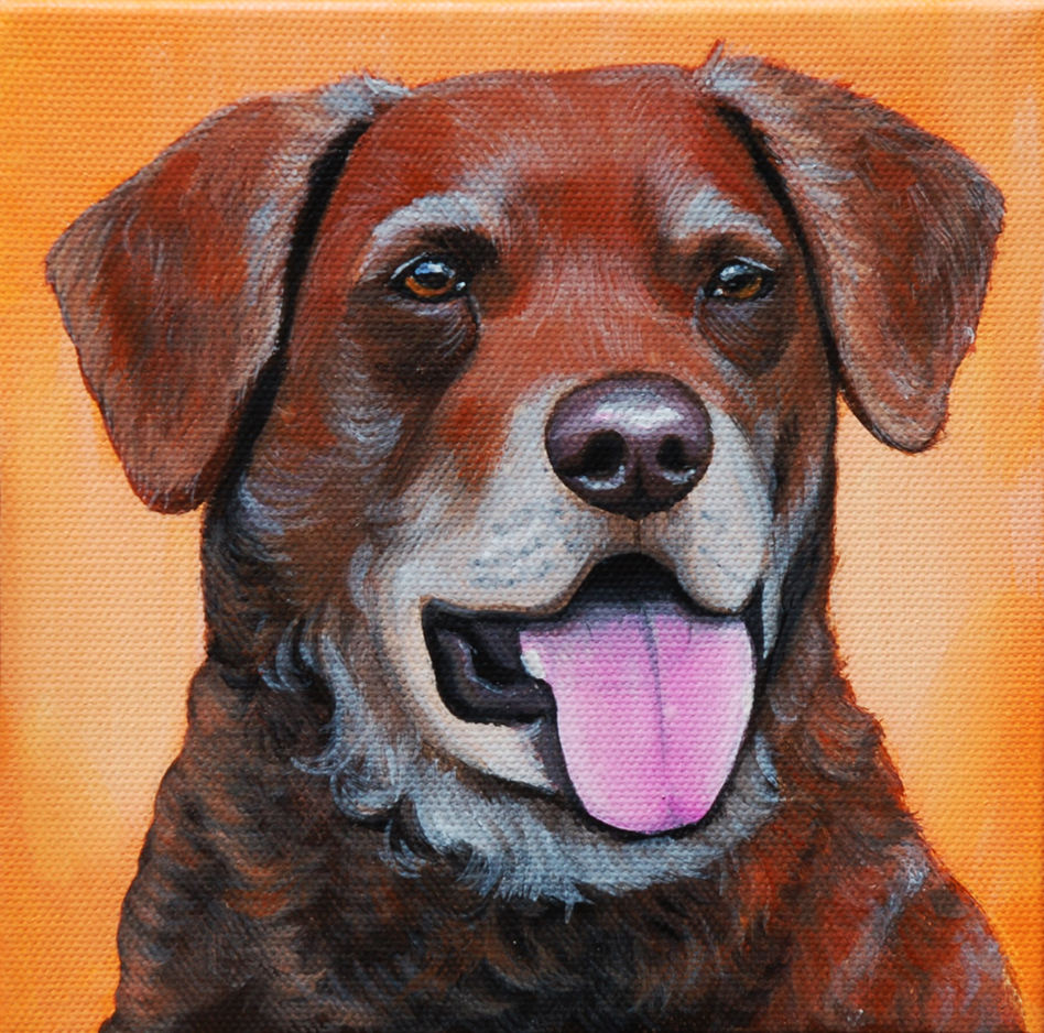chesapeke bay retriever painting portrait on canvas 2.png