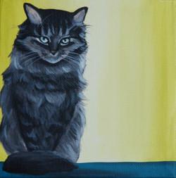 kitty cat portrait painting